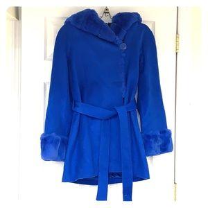 NWOT Sartoria Marenero Wool Winter Coat in Blue